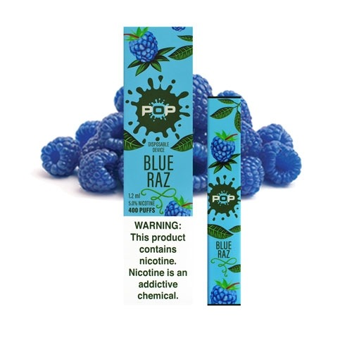 POP BLUE RAZ- DISPOSABLE VAPE DEVICE IN DUBAI/UAE