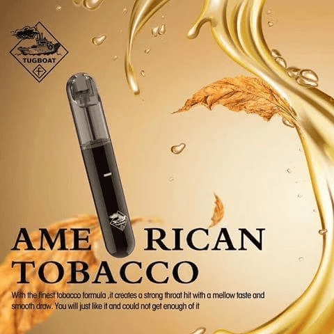 TUG BOAT (New Version 3) – American Tobacco – Ultra Portable and Disposable Vape Device IN DUBAI/UAE